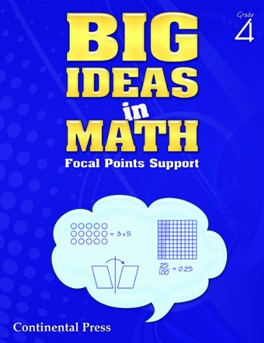 Math Workbook: Big Ideas in Math, Grade 4 Student Workbook: Continental Press