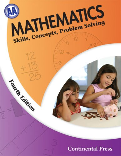 9780845458563: Math Workbooks: Mathematics: Skills, Concepts, Problem Solving, Level AA - 1st Grade