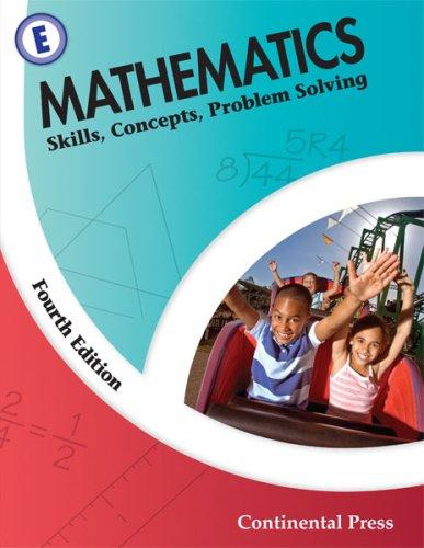 9780845458617: Math Workbooks: Mathematics: Skills, Concepts, Problem Solving, Level E - 5th Grade