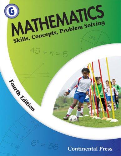 9780845458631: Math Workbooks: Mathematics: Skills, Concepts, Problem Solving, Level G - 7th Grade