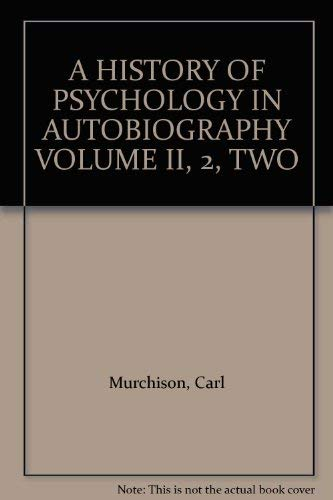 a history of psychology in autobiography