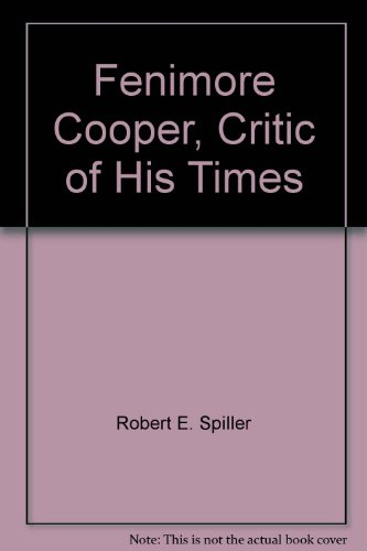 9780846203544: Fenimore Cooper, Critic of His Times