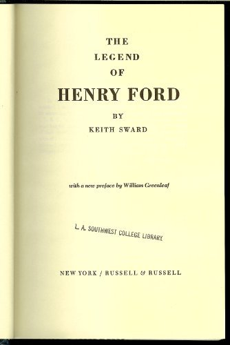9780846210849: The Legend of Henry Ford.