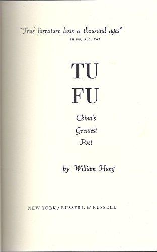 9780846213451: Tu Fu China's Greatest Poet