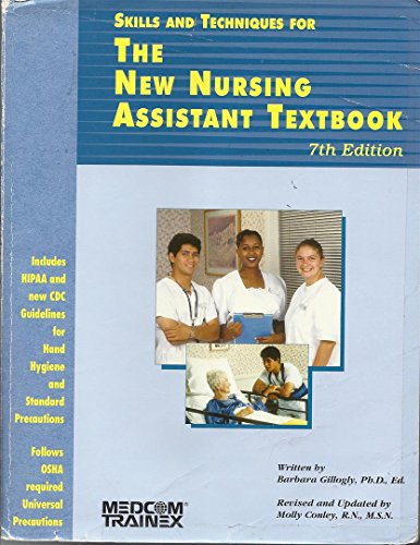 9780846320098: Skills and Techniques for the New Nursing Assistant Textbook: Revised 05/05