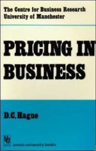 9780846407522: Pricing in Business (University of Manchester Centre for Business Research)