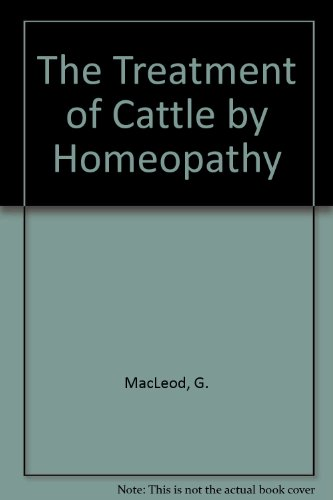 9780846412106: The Treatment of Cattle by Homeopathy