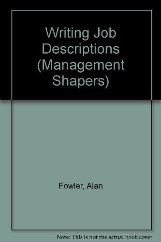 9780846451846: Writing Job Descriptions (Management Shapers)