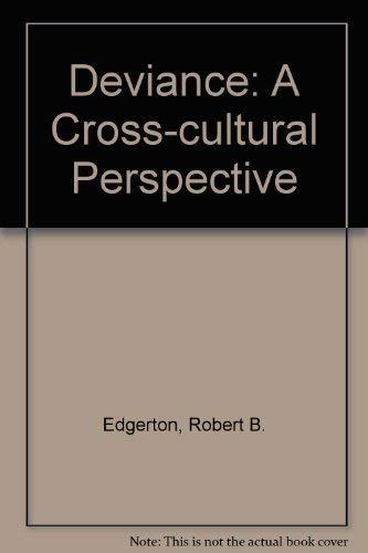 9780846513001: Deviance: A Cross-cultural Perspective (Cummings modular program in anthropology)