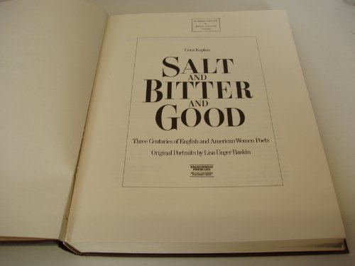 9780846700234: Salt and Bitter and Good: Three Centuries of English and American Women Poets