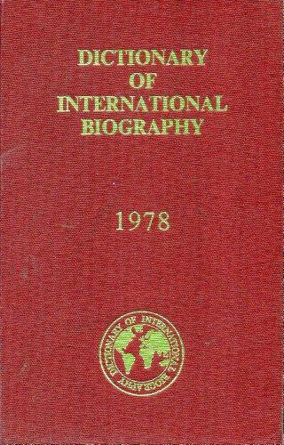 Dictionary of International Biography, 1978