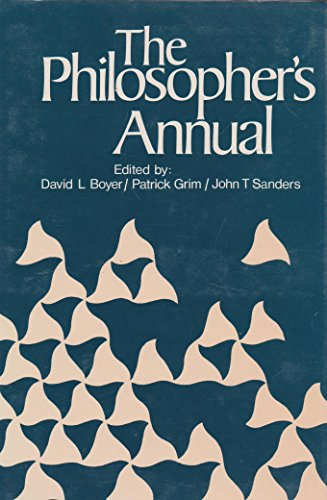 The Philosopher's Annual, 1979: Boyer, David L.