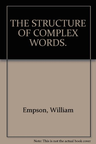 9780847662074: THE STRUCTURE OF COMPLEX WORDS.