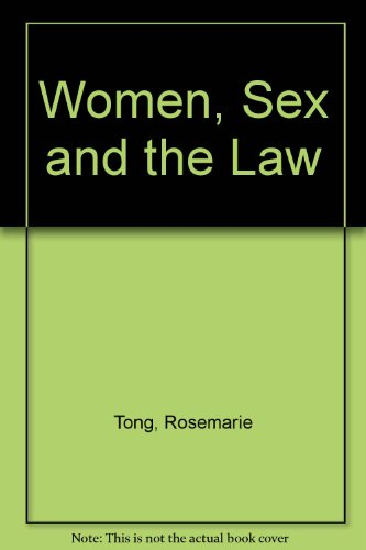 9780847672301: Women, Sex and the Law (New feminist perspectives series)