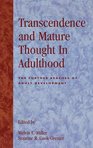 9780847679188: Transcendence and Mature Thought in Adulthood