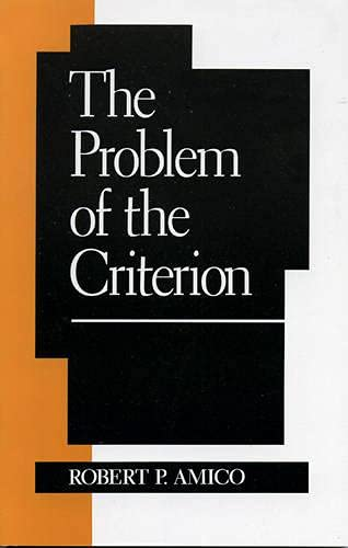 9780847680344: The Problem of the Criterion