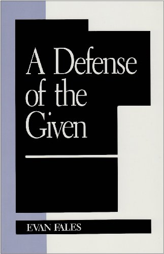 9780847683062: A Defense of the Given