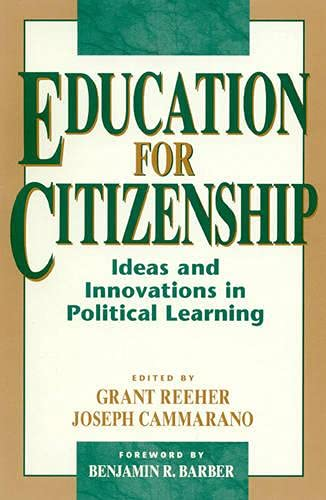 Education for Citizenship [Hardcover] [Jan 01, 1997]: Reeher, Grant [Editor];