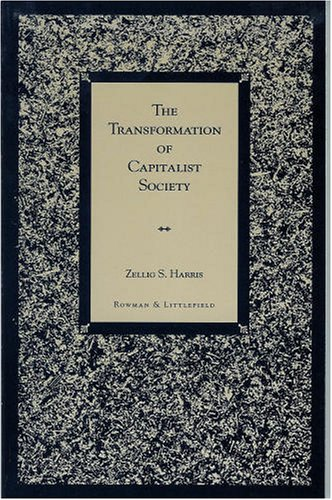 9780847684120: The Transformation of Capitalist Society