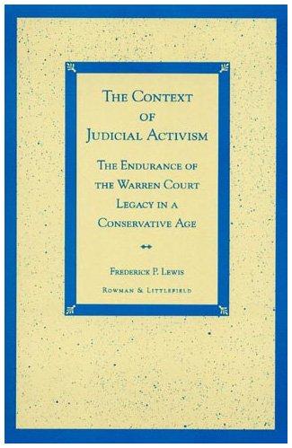 9780847689927: The Context of Judicial Activism