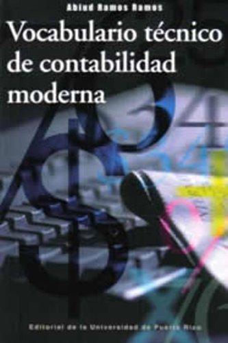 9780847726455: Vocabulario tecnico de contabilidad moderna/ Technical vocabulary of modern accounting system