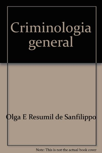 9780847730261: Criminología general (Spanish Edition)