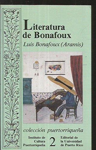 Literatura (Coleccion Puertorriquena) - Bonafoux, Luis