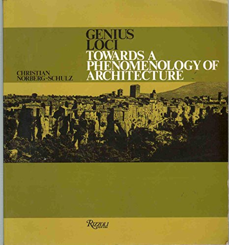 9780847802876: Genius Loci: Towards a Phenomenology of Architecture
