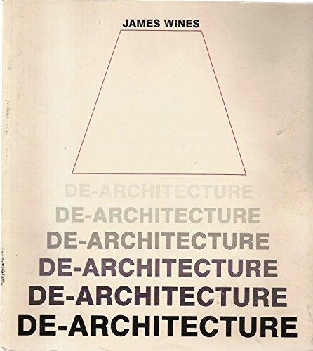9780847808625: De Architecture