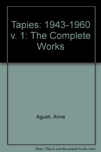 9780847809806: Tapies Complete Works Volume 1
