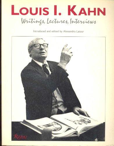 9780847813315: Louis I Kahn Writings
