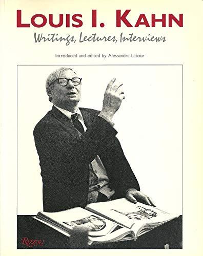 9780847813568: Louis I Kahn Writings