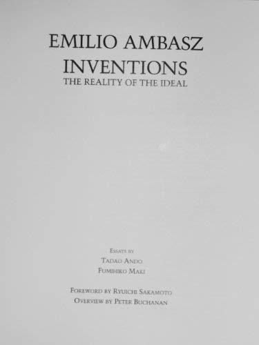 Emilio Ambasz: Inventions: The Reality of the Ideal: Ambasz, Emilio
