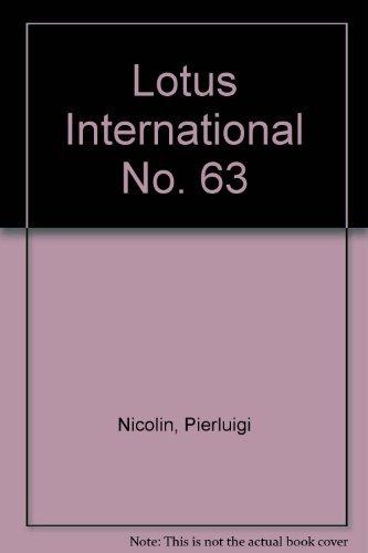 Lotus International No. 63 (0847855368) by Nicolin, Pierluigi
