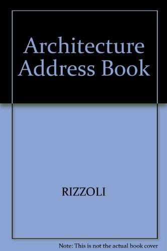 9780847856084: Architecture Address Book