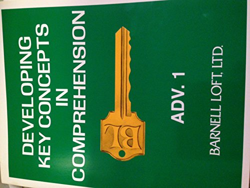 9780848410100: Developing Key Concepts in Comprehension Adv.1