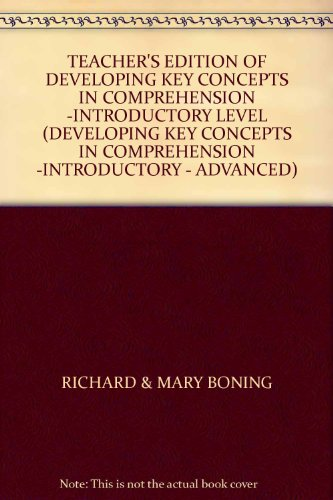9780848410261: TEACHER'S EDITION OF DEVELOPING KEY CONCEPTS IN COMPREHENSION -INTRODUCTORY LEVEL (DEVELOPING KEY CONCEPTS IN COMPREHENSION -INTRODUCTORY - ADVANCED)