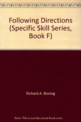 9780848417178: Following Directions (Specific Skill Series, Book F)