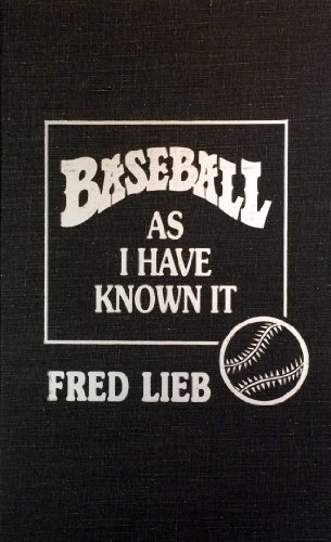 9780848815493: Baseball As I Have Known It