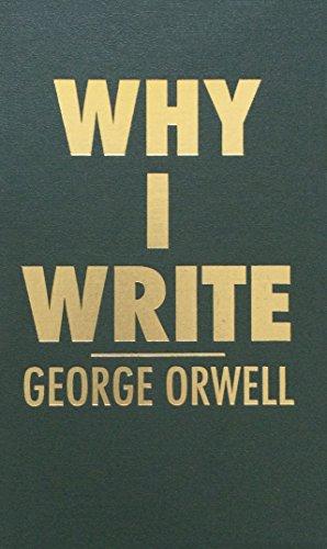 9780848833398: Why I Write
