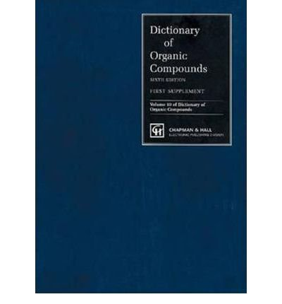 Dictionary of Organic Compounds (Hardback)