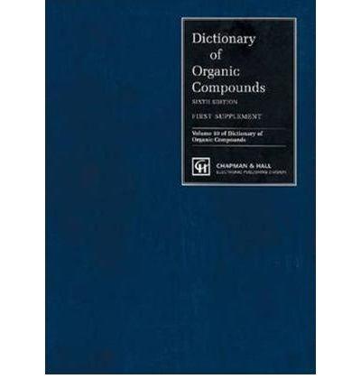 9780849300073: Dictionary of Organic Compounds, Sixth Edition, Nine Volume Box Set