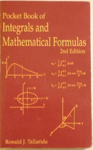 9780849301421: Pocket Book of Integrals and Mathematical Formulas, Second Edition (Advances in Applied Mathematics)