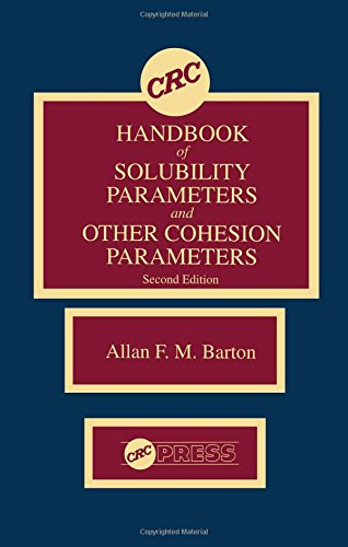 9780849301766: CRC Handbook of Solubility Parameters and Other Cohesion Parameters, Second Edition