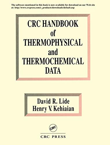 9780849301971: CRC Handbook of Thermophysical and Thermochemical Data