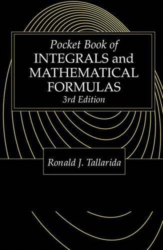 9780849302633: Pocket Book of Integrals and Mathematical Formulas, Third Edition (Advances in Applied Mathematics)