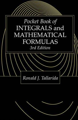 9780849302633: Pocket Book of Integrals and Mathematical Formulas, 3rd Edition