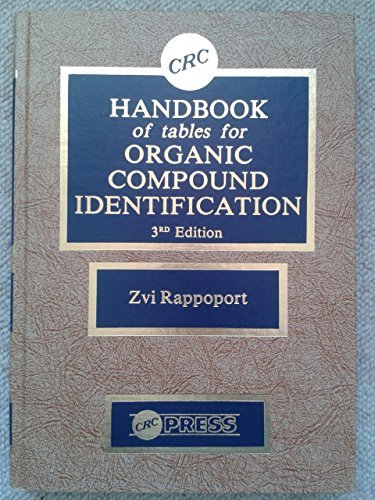 9780849303036: Handbook Tables For Organic Compound Identification, Third Edition