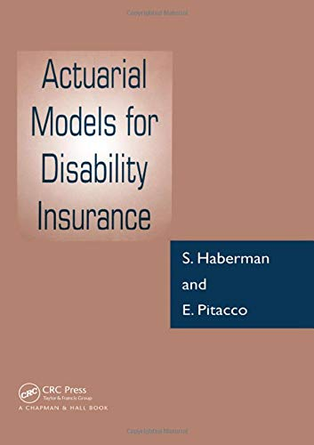 9780849303890: Actuarial Models for Disability Insurance
