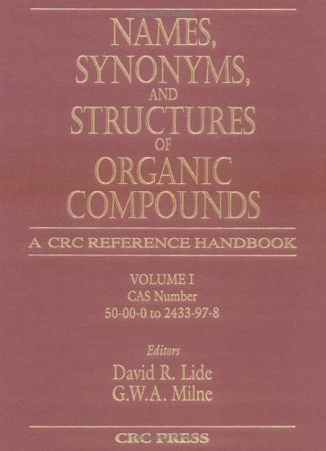 9780849304057: Names, Synonyms, and Structures of Organic Compounds (v. 1-3)